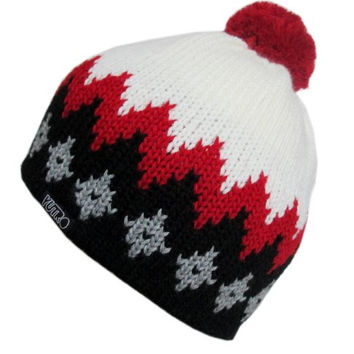 YUTRO Fashion Men's Thinsulate Fleece Lined Wool Knitted Ski Beanie Hat WHITE/RED