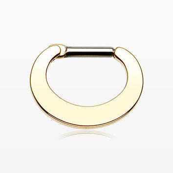 Golden Basic Steel Loop Septum Clicker