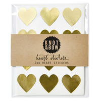 Heart Stickers, Gold, Set of 144, Labels & Tags