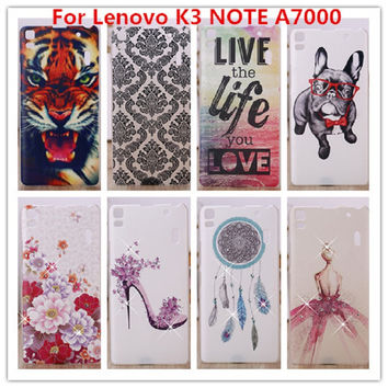 For Lenovo K3 NOTE Case /Luxury Crystal Diamond 3D Bling Hard Plastic Cover Case For Lenovo Lemon K3 Note A7000 Cell Phone Case