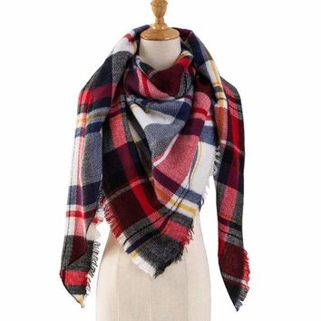 Women's Winter Plaid Scarves