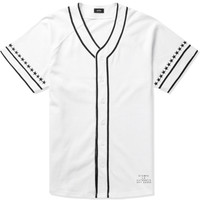 White Star Sleeve Cotton Jersey