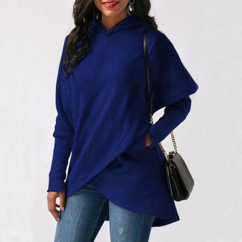 Long Sleeve Wrap Pullovers