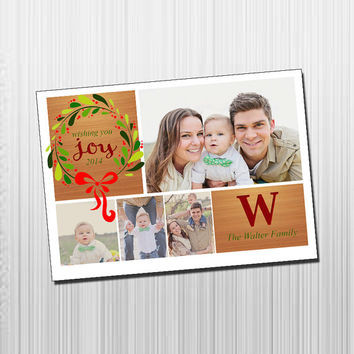 Custom Photo Holiday Card - Digital File Photo Holiday Card - Wishes Dreams & Love