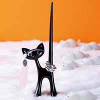 Ring Stand Miaou solid black | Koziol Shop