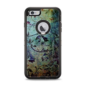 The Grungy Dark Black Branch Pattern Apple iPhone 6 Plus Otterbox Defender Case Skin Set
