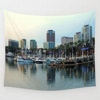 A Slice of Long Beach, CA Wall Tapestry by RichCaspian