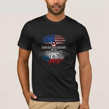 American Grown With Czech Roots Country T-Shirt