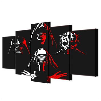 Darth Maul Star Wars Painting Canvas Print - Red / Black