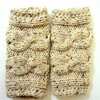 Knit Long Legwarmers Boot Socks Boot Cuffs Cable Knit Boot Toppers Fashion Accessories
