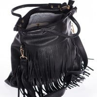 Far Out Fringe Purse, Black