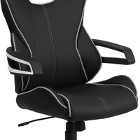 High Back Black Vinyl Chair