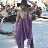 Music festival lace tunic top, Young and famous Bohemian Mexicali beach ,Boho clothes, Stevie Nicks style Gypsy chic, True rebel clothing Lg