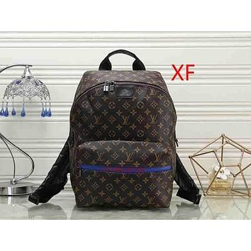 Louis Vuitton LV Fashion Leather Backpack Daypack Bookbag