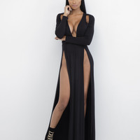 TILL DAWN Slit Maxi Dress at FLYJANE