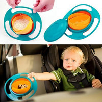 Children Kid Baby Toy Prato Universal 360 Rotate Spill-Proof Bowl Dish Baby Dishes Kids Dinner Plate