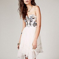 Free People  Floral Bodice Mini Dress at Free People Clothing Boutique