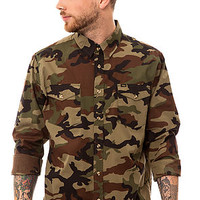 Obey The Field Assassin Buttondown in Field Camo : Karmaloop.com - Global Concrete Culture