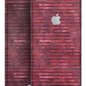 Red Watercolor Stripes - Skin-kit for the iPhone 8 or 8 Plus