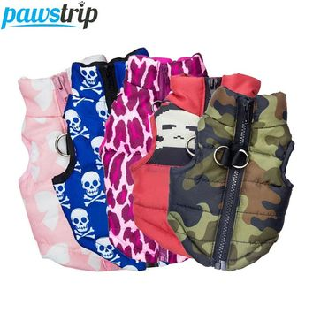 Warm Winter Fashion Print Jacket Harness XS-XL