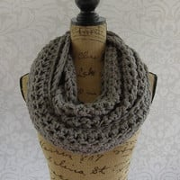 Ready To Ship Infinity Scarf Crochet Oversized Grey Gray Women's Accessories Eternity Fall Winter