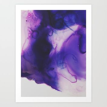 Violet Aura Art Print by duckyb