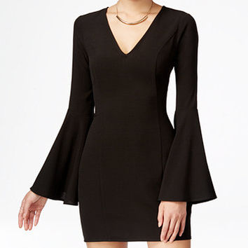 Material Girl Juniors' Bell-Sleeve Bodycon Dress, Only at Macy's | macys.com