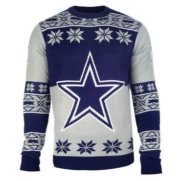 Dallas Cowboys Official Men's NFL Big Logo Sweater