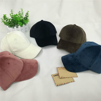 New Suede Baseball Cap Mens Casquette Bone cap Fashion Snapback Sport cap Hip Hop Flat Hat Men and women couple models Gorras