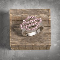 Pink Label Bar & Shield Ring