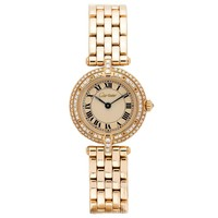 Cartier Lady's Yellow Gold Diamond Panthere Vendome Quartz Wristwatch