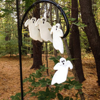 Clearance Sale Halloween 4 Handmade Ghost Ornaments Decorations Ghoulish Fun Gothic Halloween Rustic Halloween Steampunk Spooky Decor RTS