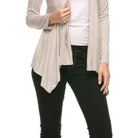 ARIANNA CARDIGAN: Tiered Long Sleeve