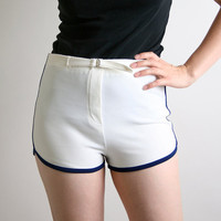 Vintage Tomboy Shorts Pure White Spring Sporty Sports by zwzzy