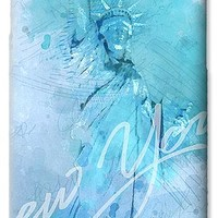 New York City - Statue Of Liberty - Blue IPhone 6s Case