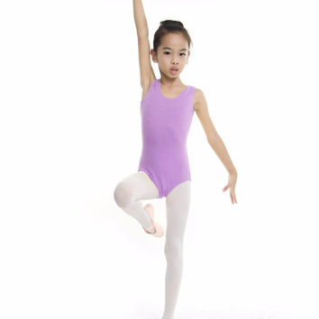 Kids Dance Gymnastics Leotard Skirt Tutu Stretch Bodysuit Girls Top Tshirt
