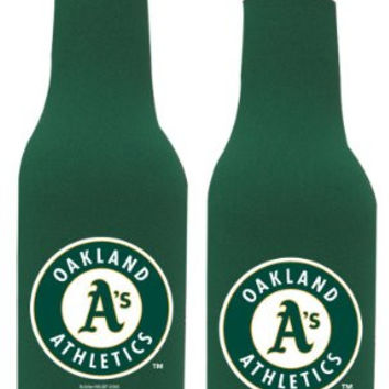 MLB Athletics Neoprene Bottle Suits | Oakland Athletics Beer Bottle Koozies - Set of 2