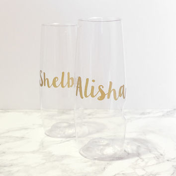 Personalized Stemless Shatterproof Champagne Flute