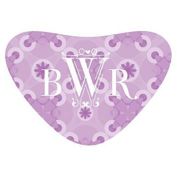 Floral Pattern Heart Container Sticker Dark Pink (Pack of 1)