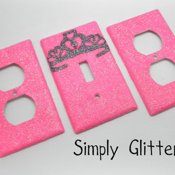 Glitter Princess Crown Plate Set