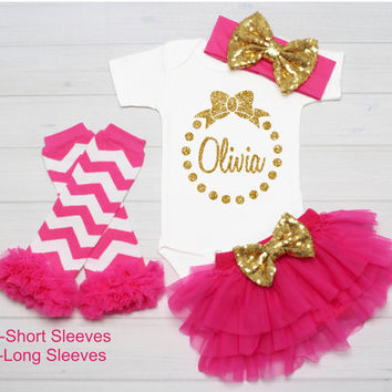 Personalized Name Bodysuit, Baby Girl Clothes, Baby Girl Outfit, Coming Home Outfit, Baby Shower Gift, Customized Name Shirt, Take Home