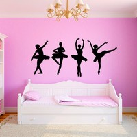 Dancing Ballerinas Girls Room Wall Graphics