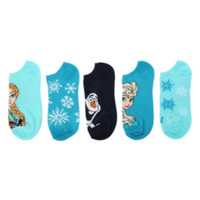 Disney Frozen Blue No-Show Socks 5 Pair