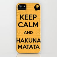 Keep Calm and Hakuna Matata // Inspired by Disney's Lion King iPhone Case by -raminik design- | Society6