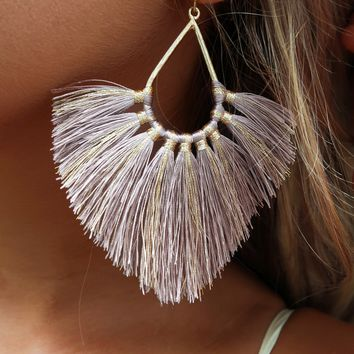 Belong Here Earrings: Taupe