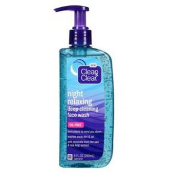 Clean & Clear® Night Relaxing Deep Cleaning Face Wash-8 Oz