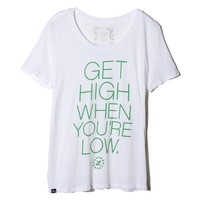 LRG - LRG High & Low Boyfriend Tee - White - Womens