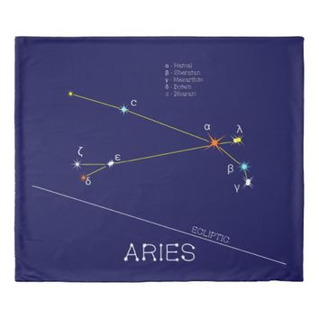 Constellation ARIES unique, sublime Duvet Cover