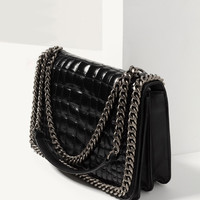 CROSSBODY BAG WITH EMBOSSED CHAIN DETAILS