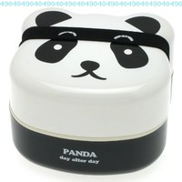 Kotobuki 280-129 2-Tiered Bento Box, Panda Face:Amazon:Kitchen & Dining